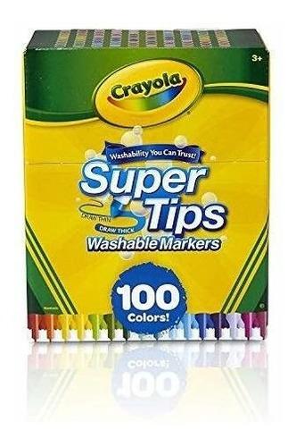 Marcadores Lavables Crayola Super Tips, Regalo Para Niños D