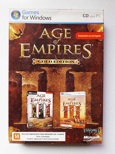 Age Of Empires Iii 3 Gold Edition C/ War Chiefs - Original