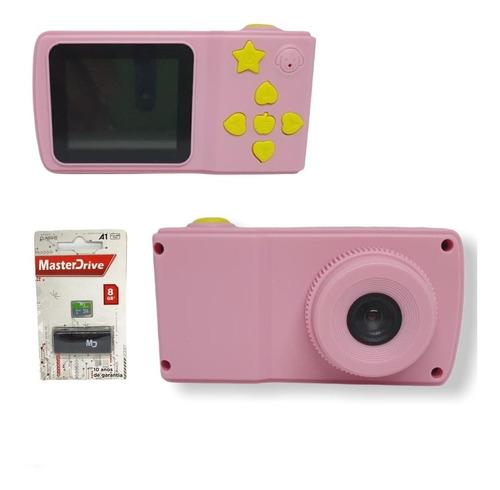 Câmera Fotográfica Infantil + Cartão De Memória 8gb Master