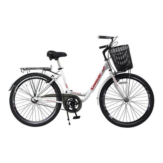 Bicicleta De Paseo Dama Aluminio Rodado 26 Kxg-440 Kawasaki