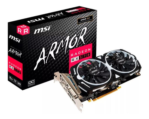 Placa De Video Amd Radeon Msi Rx 570 8gb Gamer