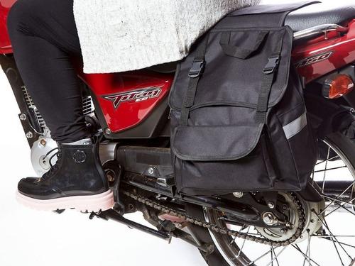 Alforge Bolsa Lateral 40l Viagem Para Motos S Capa Brinde