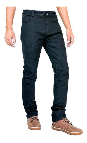 Calça Corse Motorcycle Jeans Slim Black Masculina Com Kevlar