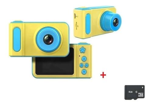 Mini Câmera Digital Infantil Foto E Vídeo + Cartão Sd 4gb