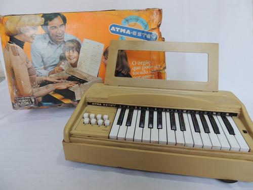 Orgão Elétrico Gigante - Atma - Anos 70 - Na Caixa Original