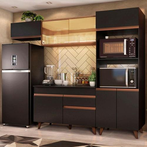 Cozinha Completa Madesa Reims 260001 Com Armário E Balcão