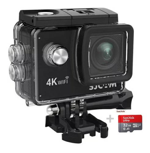 Câmera Sjcam Sj4000 Air 4k Cartão 32gb Original Sandisk