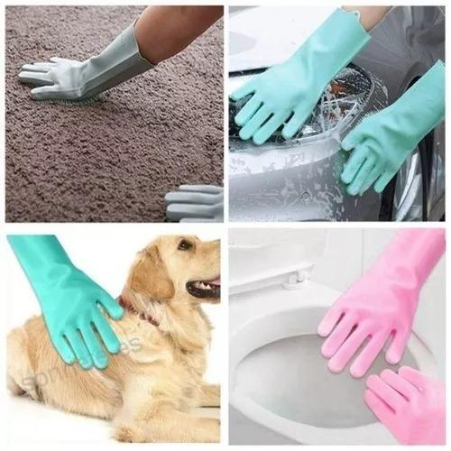 Guantes Magicos De Silicona Para Lavar Platos,mascotas,autos