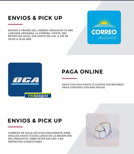 Anillo Lucky Con Símbolo Trébol Con Zirconia Acero Uruguay