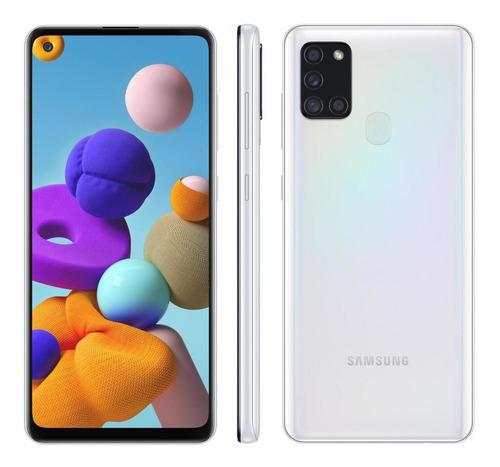 Samsung Galaxy A21s Branco Dual Sim Octa-core 64gb 4 Gb Ram