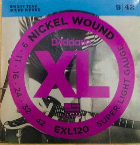 Cuerda Para Guitarra Eléctrica Daddario Xl ( Exl120)
