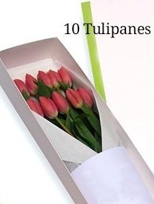 Caja O Ramo De Tulipanes