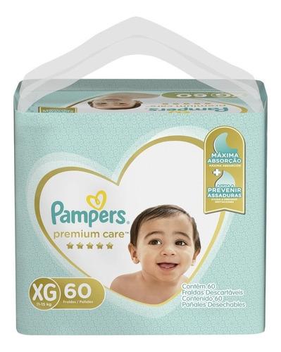 Fralda Pampers Premium Care Tamanho Xg 11-15kg - 60 Unidades