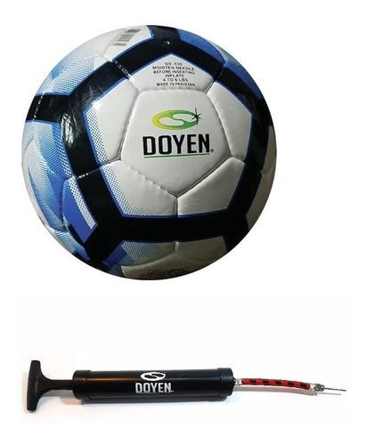 Kit Futbol Pelota + Inflador Con Pico Simple Doyen