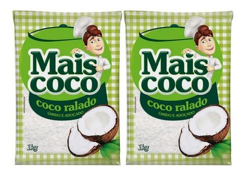Kit Coco Ralado Mais Coco 1kg - 2 Unidades