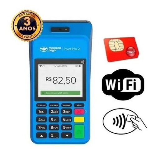 Maquina De Cartão Imprime Comprovante - Chip Grátis E Wifii