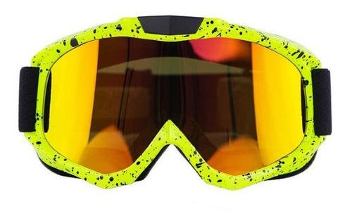 Óculos Motociclista Corrida Rally Espelhado Moto Otri05