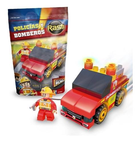 Rasti Pack Bomberos 44 Piezas Con Figura