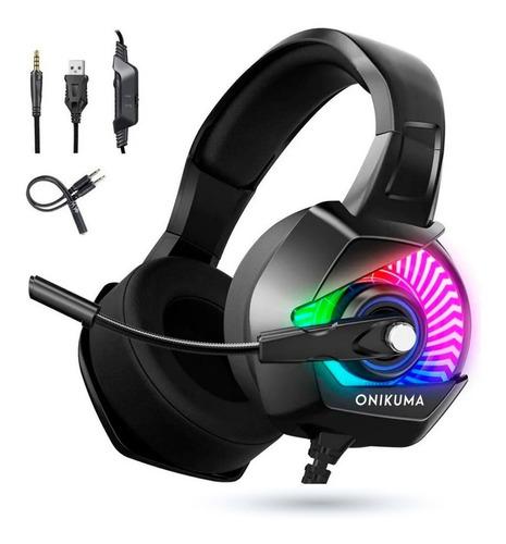 Audifonos Gamer Onikuma K6 Rgb Ps4 Xbox One S, 3.5mm Pc Lap