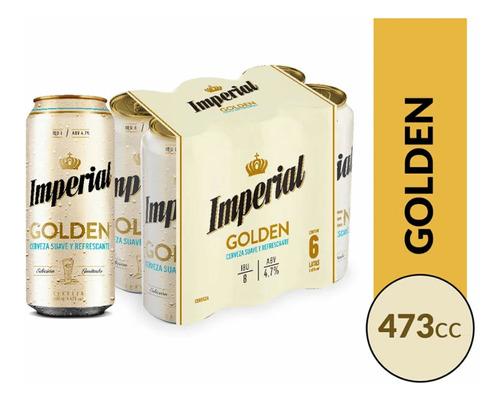 Cerveza Imperial Golden 473cc 30packs