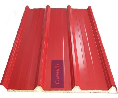 Chapa Panel Aislante Isopanel Poliuretano Terracota Rojo Mt