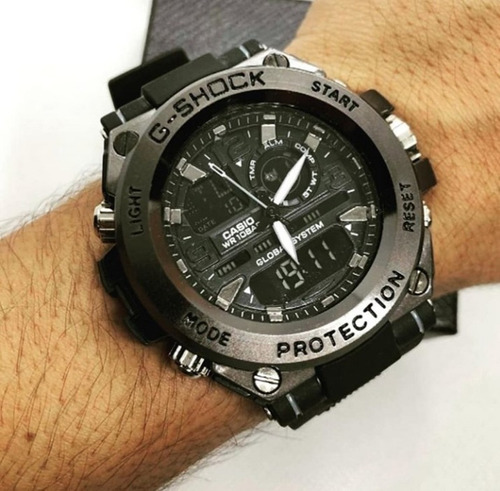 G-shock Metal Steel Relógio Casio Analógico Digital