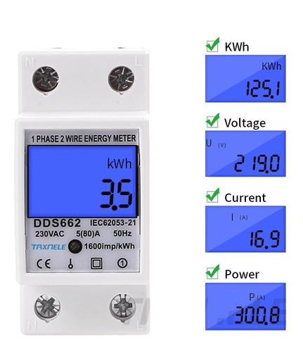 Medidor Energia Monofasico 220v 5(80a) 2p