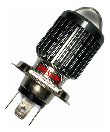 Lâmpada Led Moto H4 Olho De Peixe Ba20d 8000k Alta Potencia