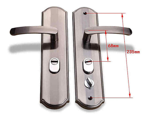 Manija En Aluminio Importada Sin Chapa