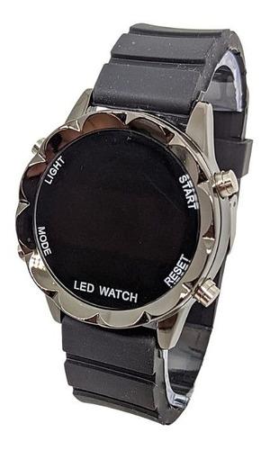 Relógio Led Watch Redondo  Digital Várias Cores