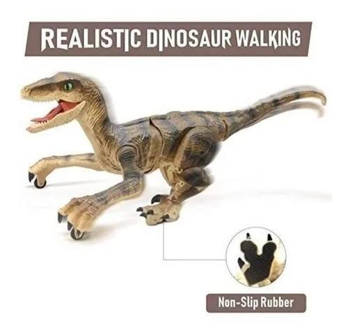 Brinquedo Dinossauro Velociraptor Controle Remoto Som E Luz