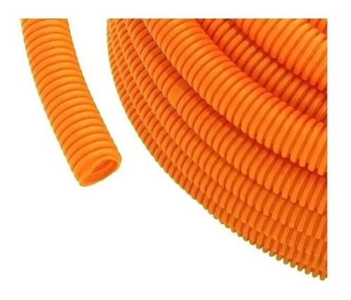 Caño Corrugado Naranja 7/8  (5 Rollos X 25mtrs)