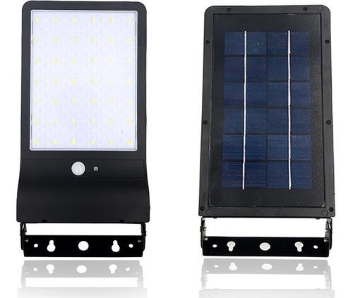 Luminária Refletor Solar Parede 100w* Potente 42 Sensor Frio