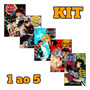 Demon Slayer Kit Vols 1 Ao 5 Kimetsu Panini Mangá Lacrados