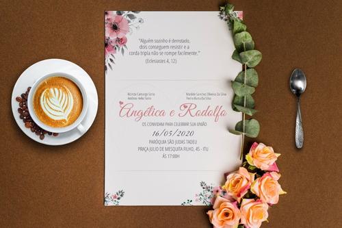 Convites De Casamento - Kit 90 Unidades