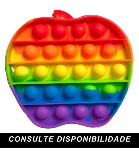 Popeti Fidget Toys Pop It Anti Stres Empurre Bolha Colorido