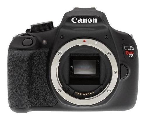 Canon Eos Rebel T5 Dslr Cor Preto , com Case Premium E Lente