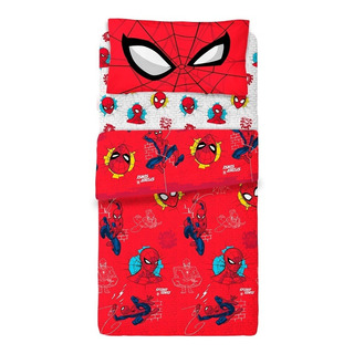 Sábanas Ultra Soft 1 1/2 Plaza Spiderman