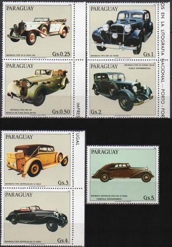 Paraguai - Carros Antigos - 1986 - S/completa