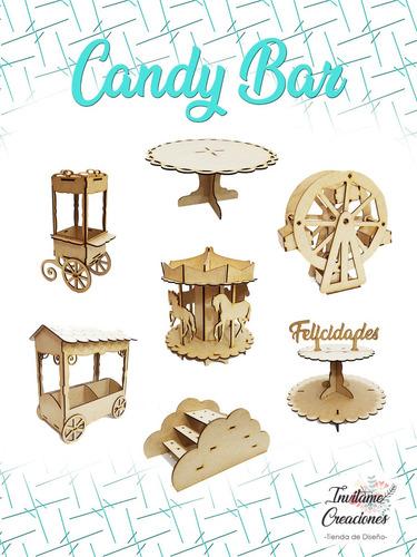 Candy Bar En Fibrofácil Para Cumpleaños-bautismo-comunión