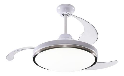 Ventilador De Techo Peabody Pe-vtr42 Blanco Con 3 Palas Color  Transparente, 42  De Diámetro 220v