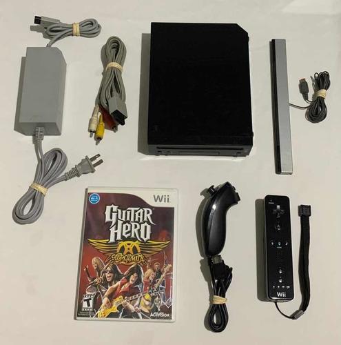 Nintendo Wii Black Original Completo Preto Controles Jogo