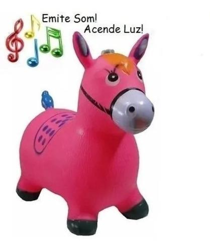 Burrinho Upa Inflável Com Som Luz Menina/o