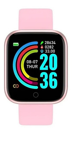 Relogio Smartwatch D20 Feminino Rose iPhone Android Samsung
