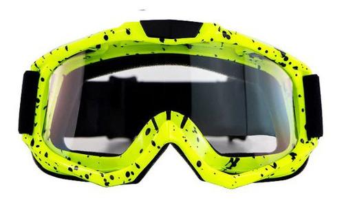 Óculos Capacete Motocross Otri05 Espelhado Transparente