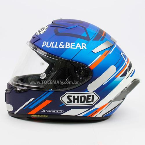 Capacete Shoei X spirit 3 Alex Marquez Am73 Azul X fourteen