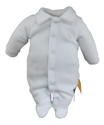 Macacão Longo Soft Bebê Paraiso Inverno Neutro Branco 11584