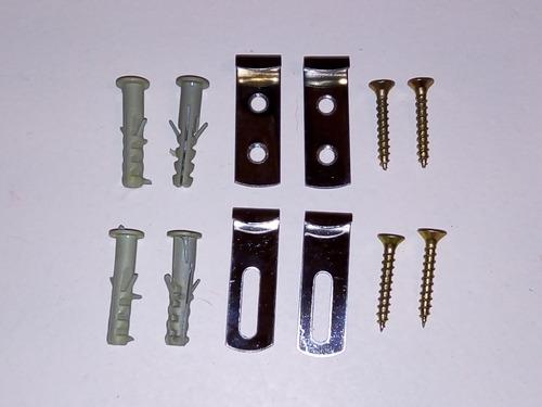 Kit De Instalación De Espejos De 3mm Y 4mm Grampas Tarugos