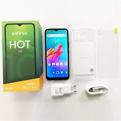 Smartphone Infinix Hot 10 Lite + Película