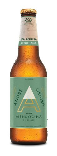 Cerveza Andes Origen Ipa Rubia Envase Retornable 340ml